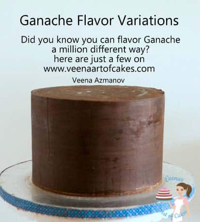 Ganache can be flavored a million different ways like nuts, liquors and fruits. Caution must be taken when you flavor ganache as it is chocolate after all.