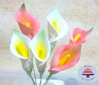 Gum Paste Calla Lilies