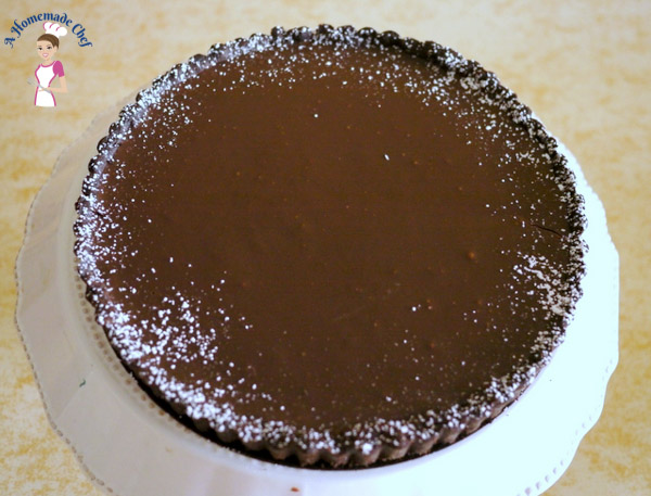 Chocolate Ganache Tart - A Homemade Chef