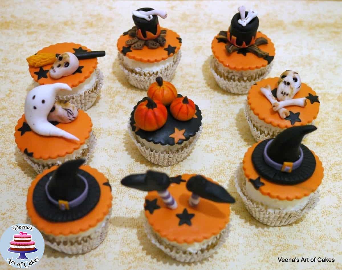 Halloween Cupcake Faces Halloween Pumpkin Cupcake