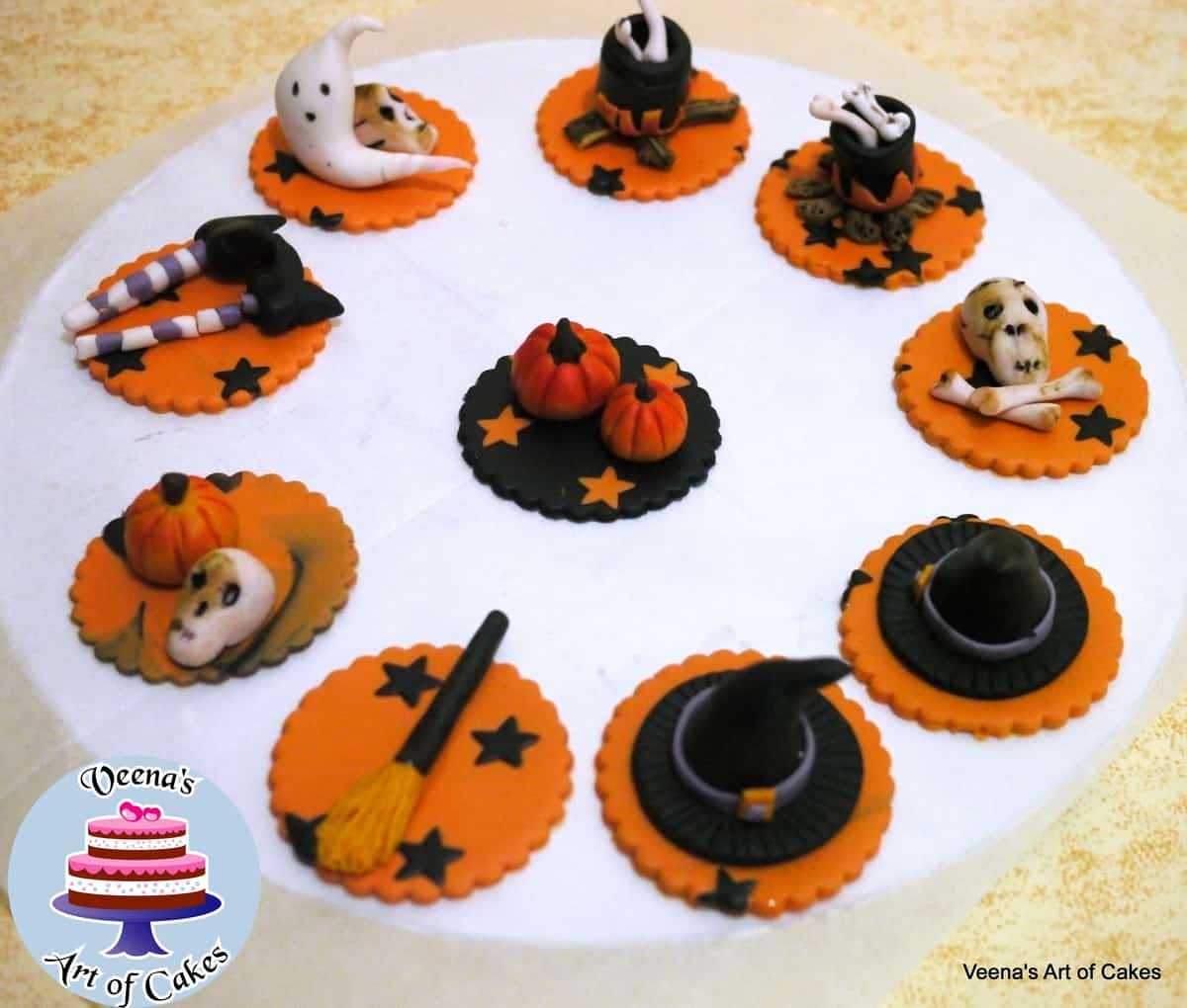 Halloween Cupcakes Witches Hats Witches Hats Cupcake Toppers