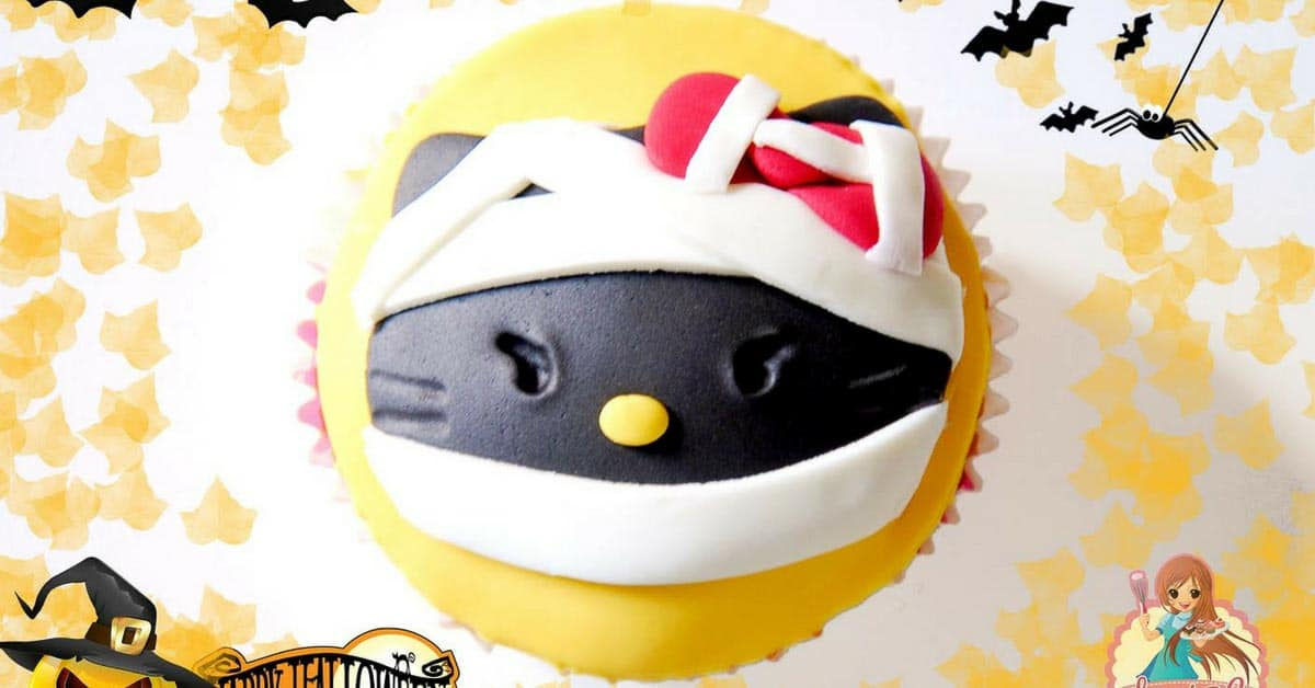 Easy Homemade Hello Kitty Cake