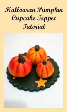 Halloween Pumpkin Cupcake Topper Tutorial