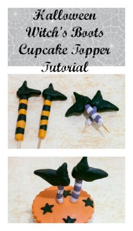 Halloween Witch's Boots Cupcake Topper Tutorial