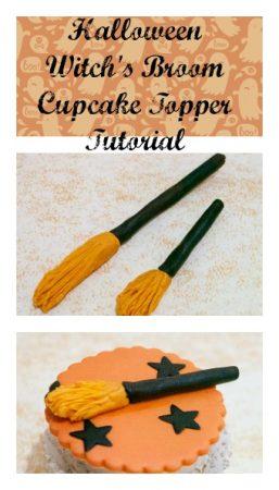Halloween Witch's Broom CupcakeTopper Tutorial