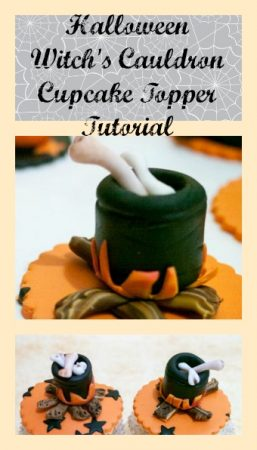 Halloween Witch's Cauldron Cupcake Topper Tutorial