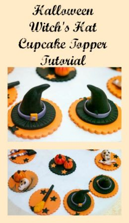 Halloween Witch's Hat Cupcake Topper Tutorial