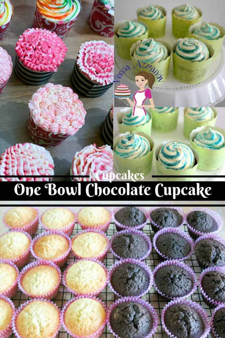 Quick and Easy One Bowl Chocolate Cupcakes Recipe - Veena ...