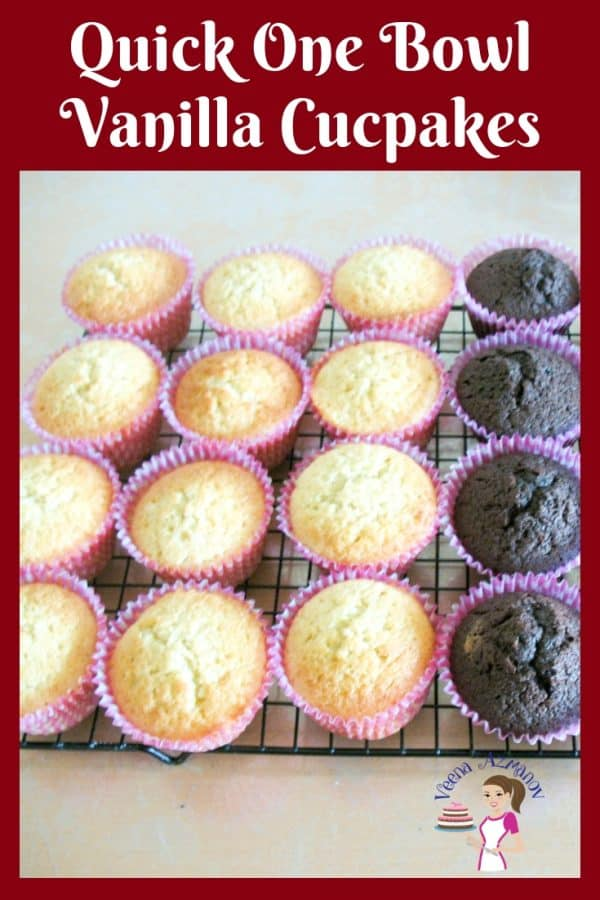These one bowl vanilla cupcakes are quick, easy and a must have recipe on hand for any home baker who loves to bake cupcakes