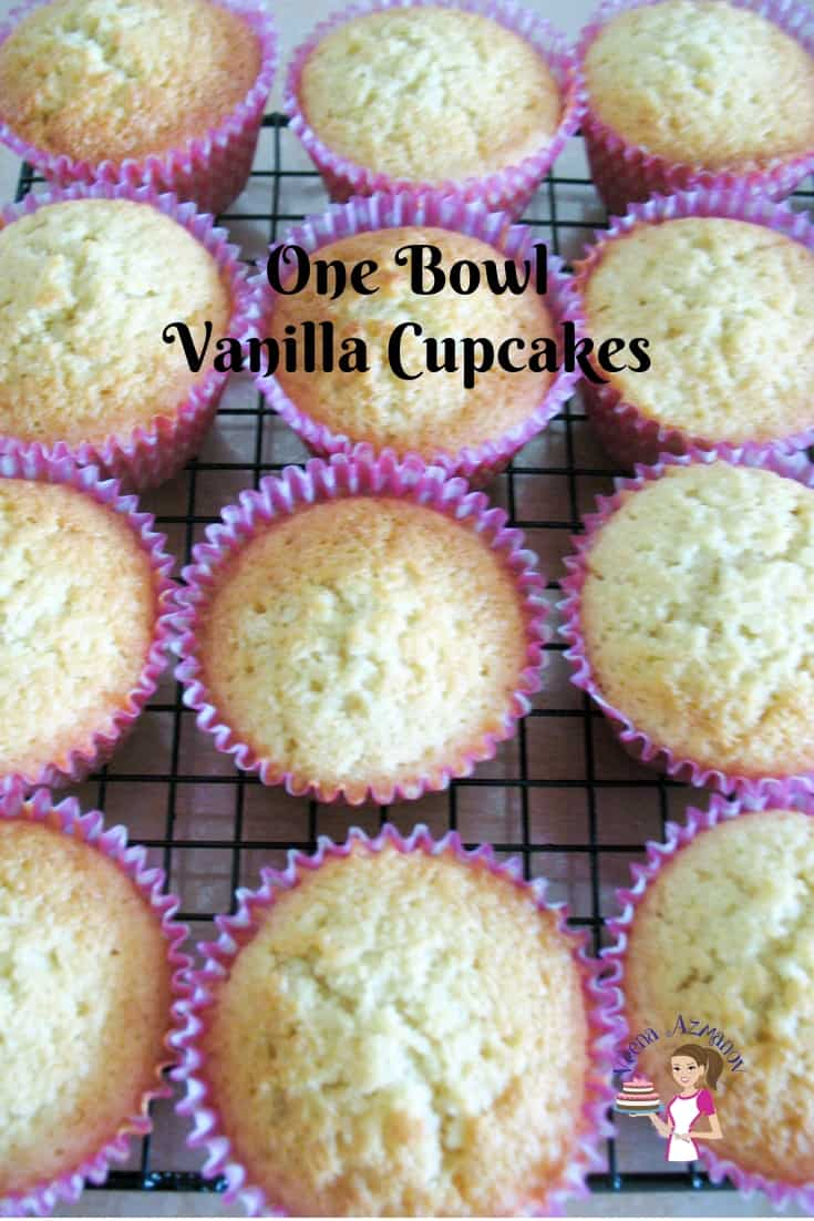 These one-bowl vanilla cupcakes are quick, easy and a must-have recipe on hand for any home baker who loves to bake cupcakes