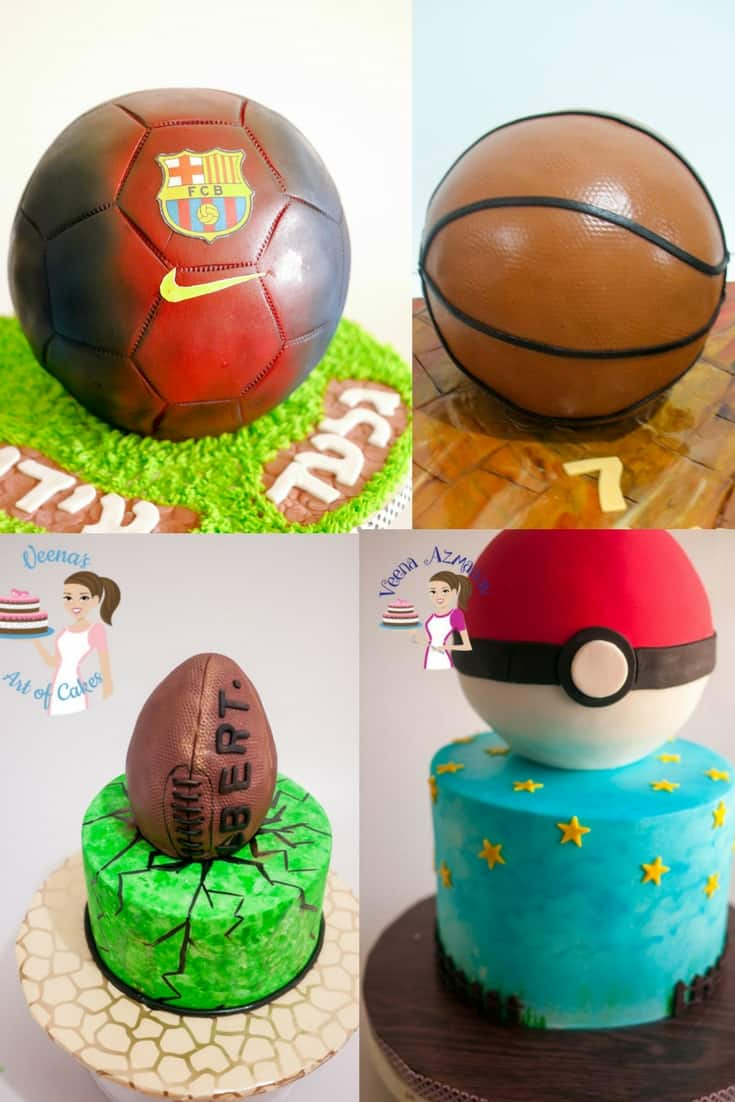 A collection of ball images on a collage using Rice Krispies for Cake Decorating Projects. How to sculpt with Rice Crispy Treats for Cake Decorating
