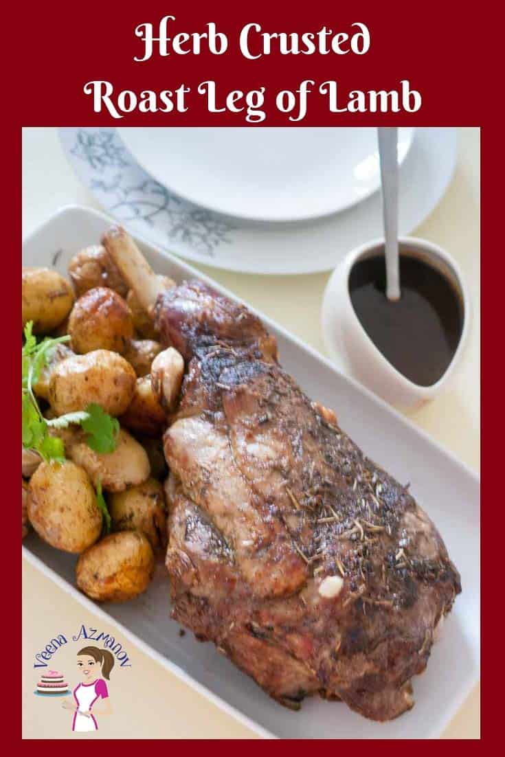 Celebrate the festive dinner with a classic Roast Leg of Lamb, seasoned with herbs and a side of roast potatoes.