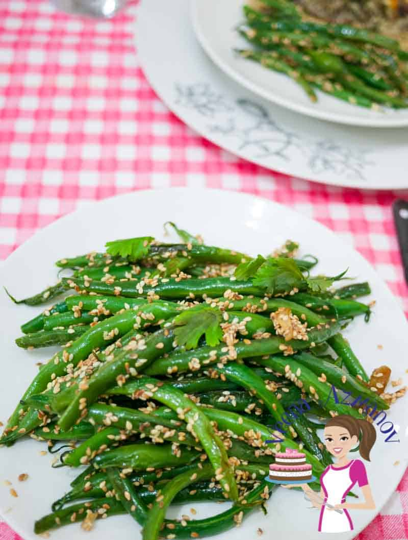 Nothing beats a side dish such as these sesame green beans that are simple easy and effortless. An absolute winner be it with family or guest. Lightly flavored with garlic and tossed with toasted sesame seeds for that added flavor. These make perfect side for any main course