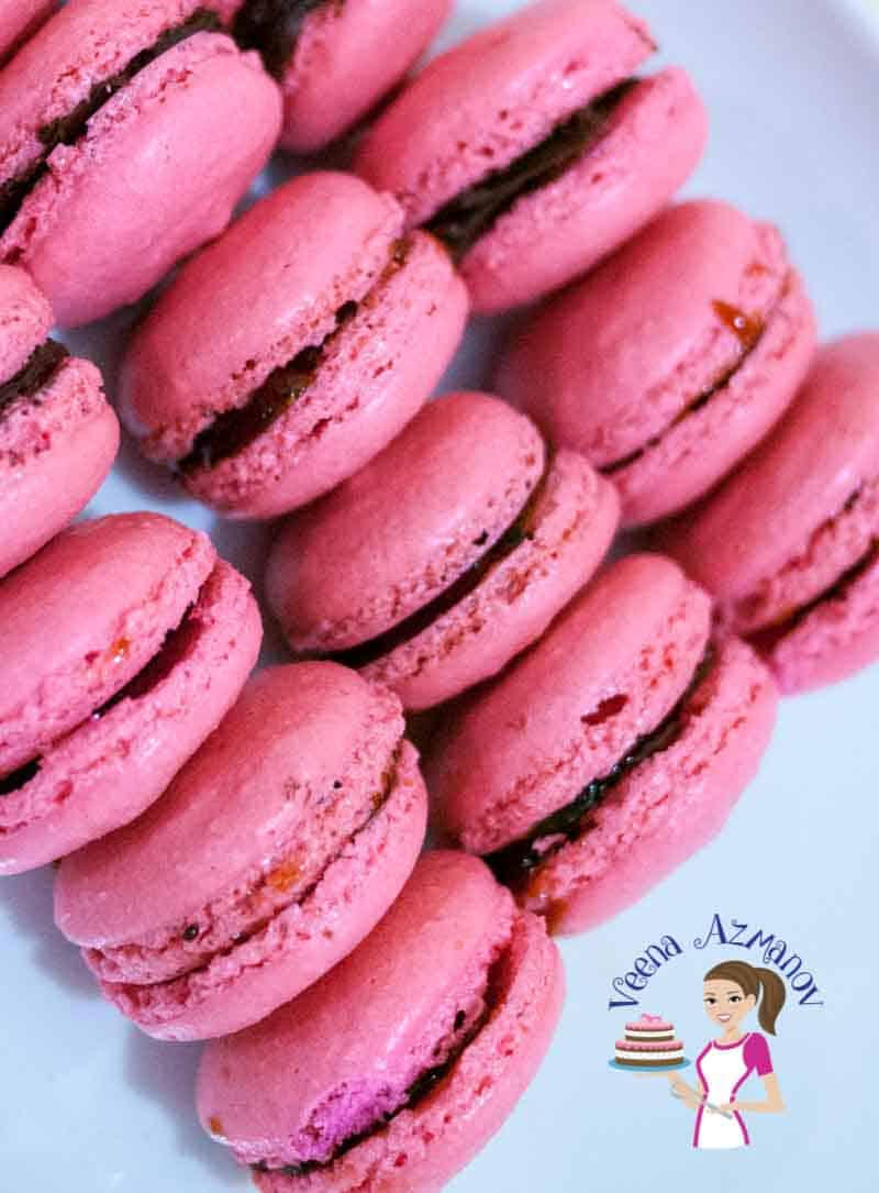 French Strawberry Macarons Veena Azmanov