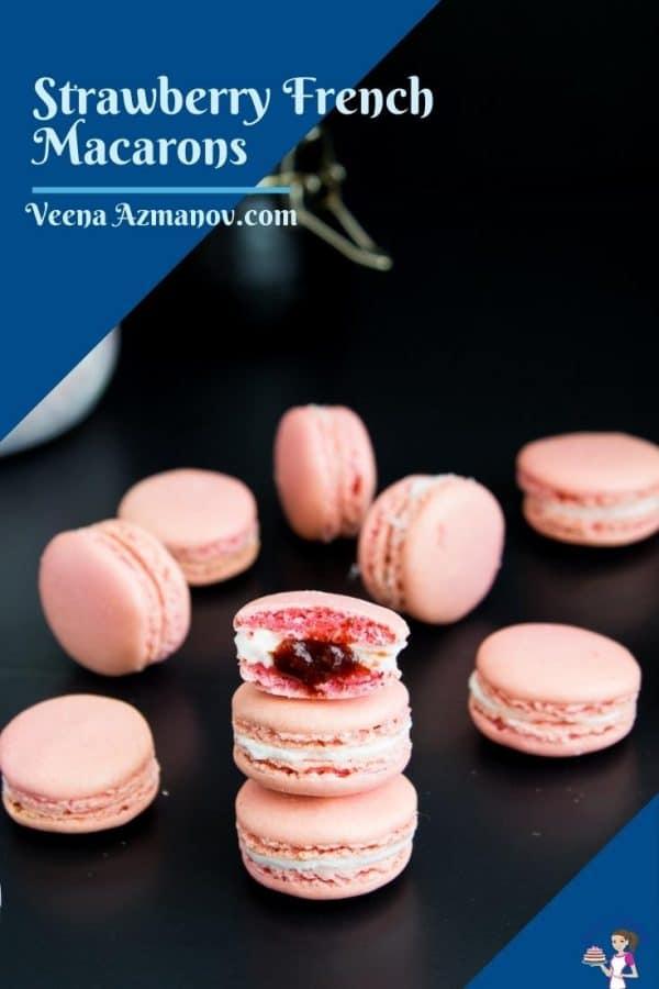 Pinterest image for macarons