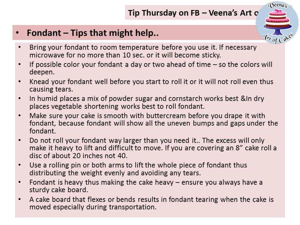 Tip Thursday - Fondant Tips