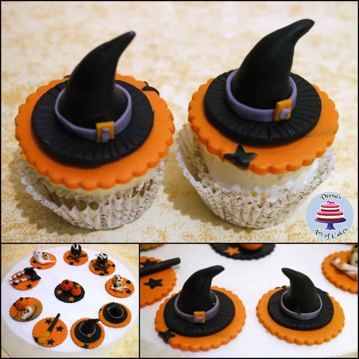 Halloween Cupcakes Witches Hats Witch Hat Cupcake Toppers