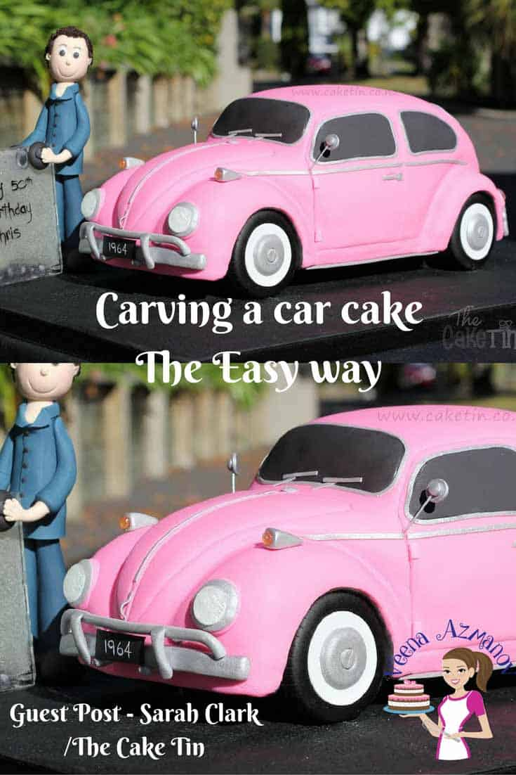 A car cake can make a great celebration cake for a boy or man at any age. Be it a six year old boy or a 60 year old man he sure loves his car. This cake carving tutorial shares a simple and easy method to carving the car cake no matter which car you choose.