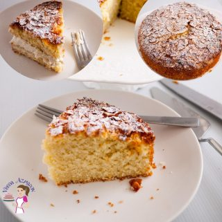 Featured images for coconut cake dusted with desiccated coconut