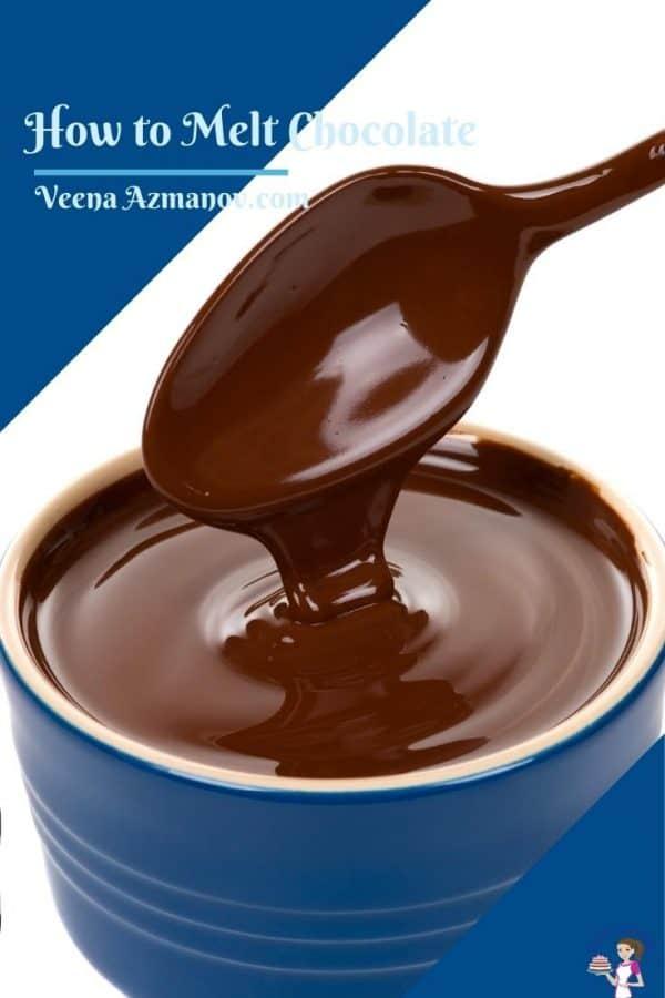 Pinterest image on how to melt chocolate correctly