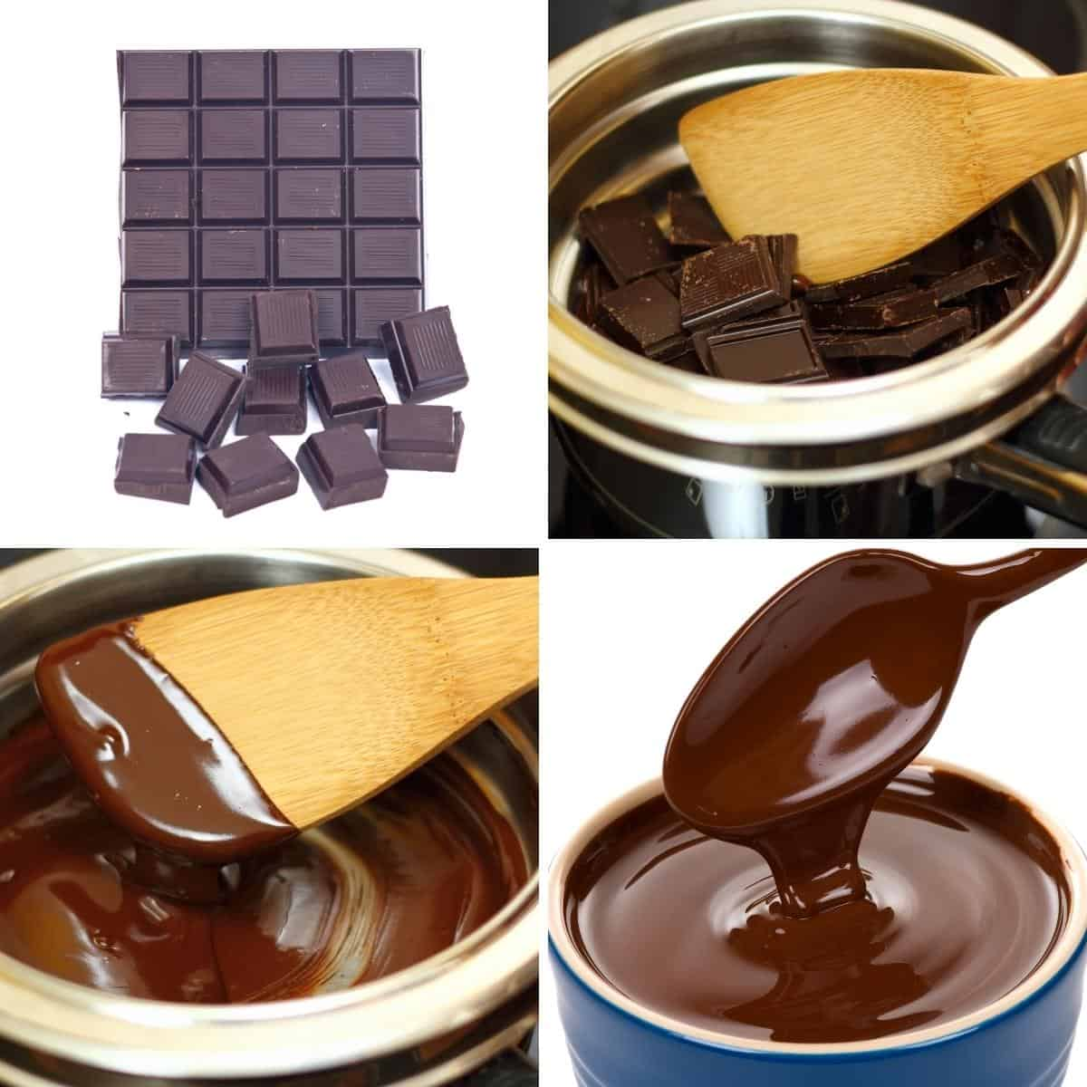 Melting chocolate in a double boiler