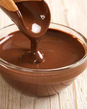 A bowl of melted chocolate