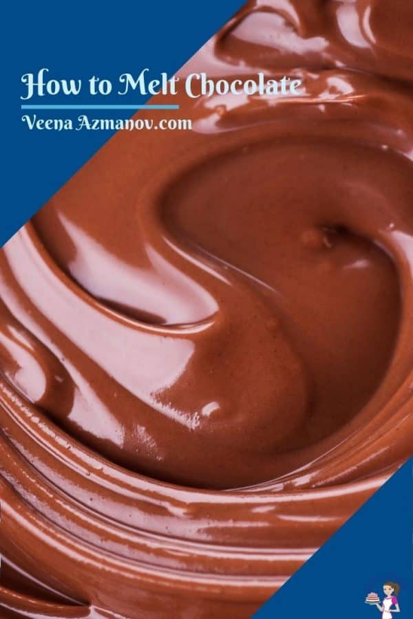 Pinterest image for melting chocolate