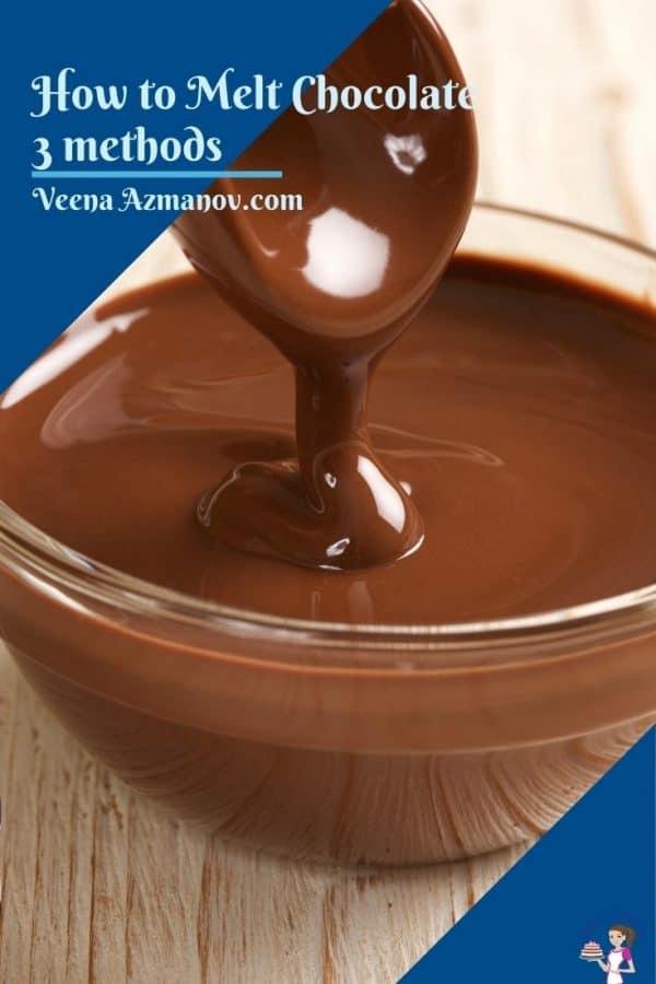 Pinterest image for how to melt chocolate correctly