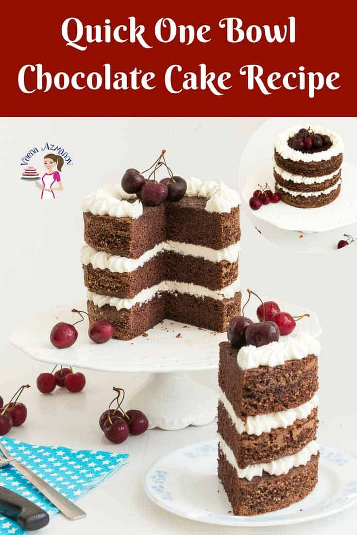 One Bowl Chocolate Cake Recipe From Scratch Veena Azmanov
