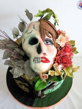 Life and Death Skull Cake – Sugar Skull Bakers Collaboration