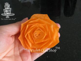 saffron-coloured-wafer-paper-rose