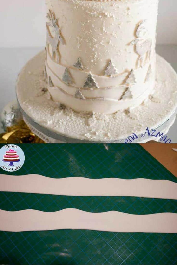 Frosted Christmas Cake Tutorial - Veena Azmanov