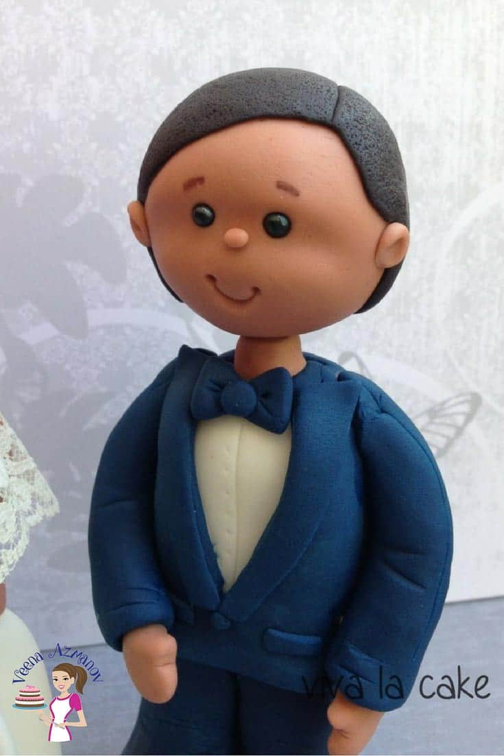 Having a figure on a cake can be a great way to personalize a cake. This simple, easy and effortless grooms figure shares how to make figures using simple techniques. These techniques can be used to make other figures as well.