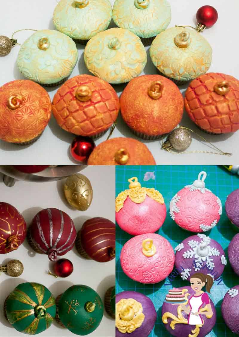 Christmas Ornament cupcakes are probably the easiest, simplest and quickest to make. Yes, quickest. Here's a step by step to how I make them.