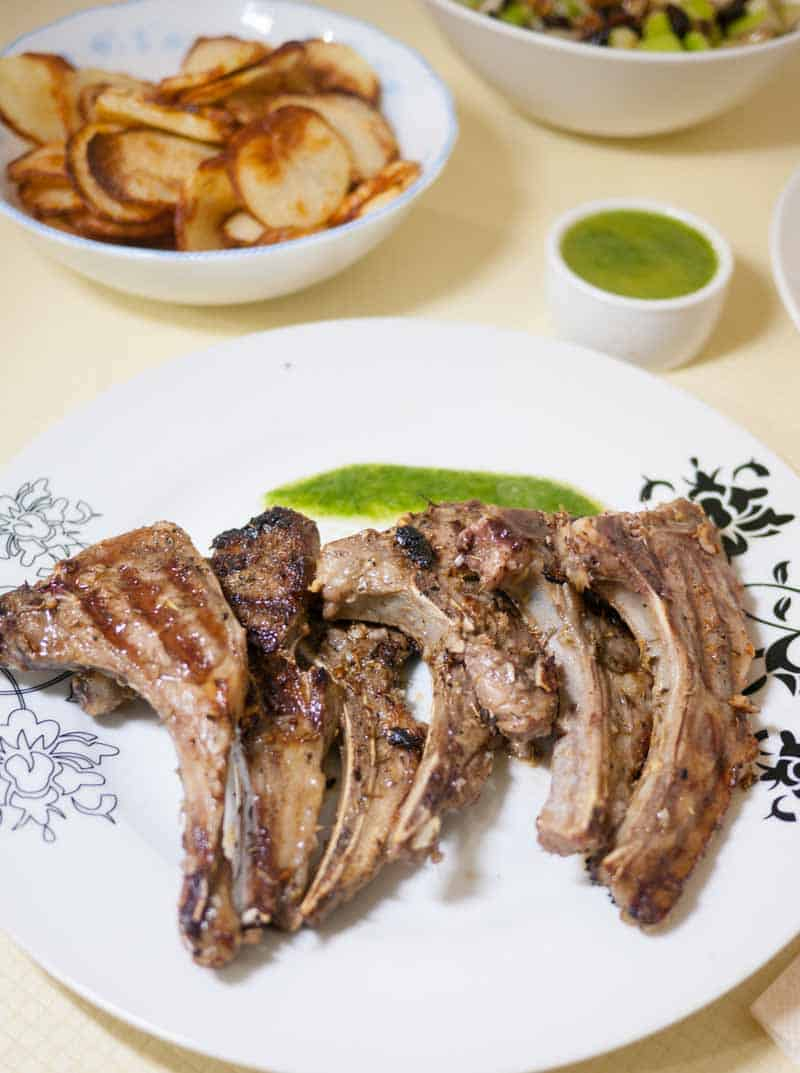 Lamb chops can be one of the simplest dinners to make in 15 minutes. These ginger spiced lamb chops with cilantro mint sauce work wonders when you want to marinate it ahead of time for a busy celebration.