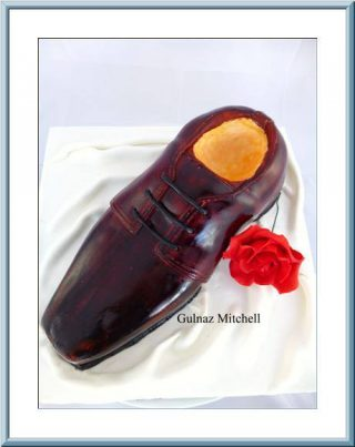 How to make a Mans Shoe Cake