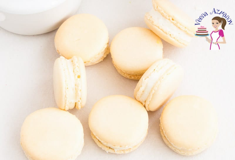 Step by step progress pictures for French Macarons, video tutorial - how to make French Macarons