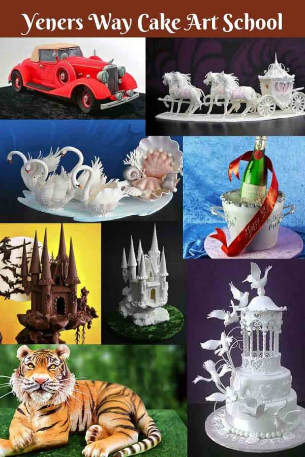 This online cake decorating school Yeners Way Cake Art Tutorials has everything you could possibly think of for any beginner or advance cake learning. The tutorials are easy simple and so elaborate that nothing is left to guess.