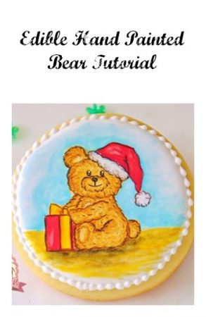 Edible Hand Painted Bear