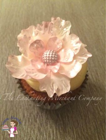 Fantasy flowers are the current trend, be it gum paste or wafer paper. This pretty gumpaste fantasy flower cupcake topper tutorial is a simple, easy and effortless way of adding a big impact to your small cupcakes. They can be made a head of time making work flow easy for last minute cake details.