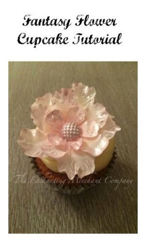 Fantasy flowers are the current trend; be it gum paste or wafer paper. This pretty gumpaste fantasy flower cupcake topper tutorial is today's Tip Thursday