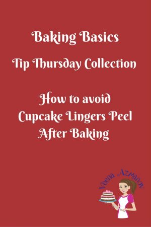 How to avoid Cupcake Liners Peel after Baking