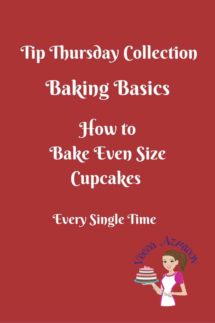 Baking same size cupcakes can be a challenge when you just start baking cupcakes. However, getting them to look professional is just as easy as a few simple tricks. Here's one that can make a huge difference.