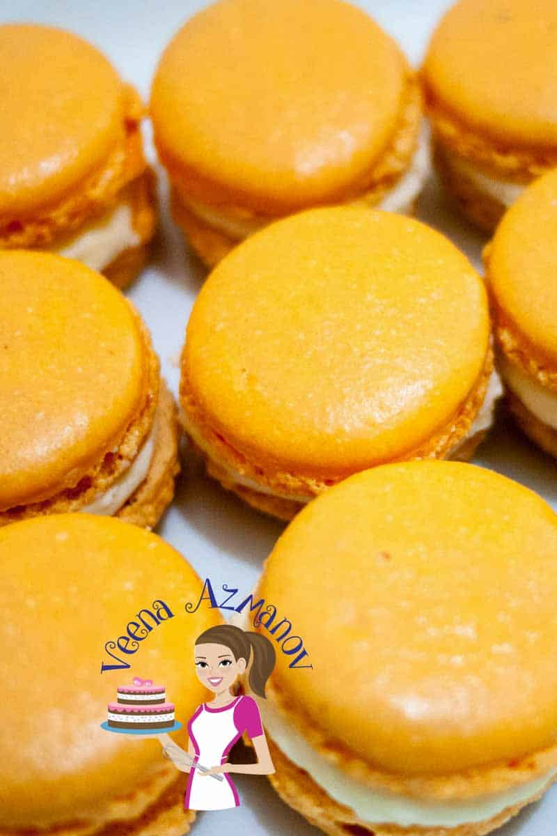 Orange French Macarons with Orange or Pumpkin Spice Buttercream