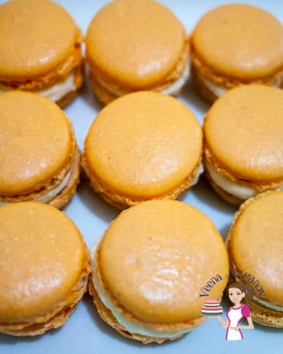 Orange French Macarons are a delicacy of their own. Often filled with orange curd or marmalade and orange buttercream that almost melt in the mouth. My full proof macaron recipe is simple easy and delicious.