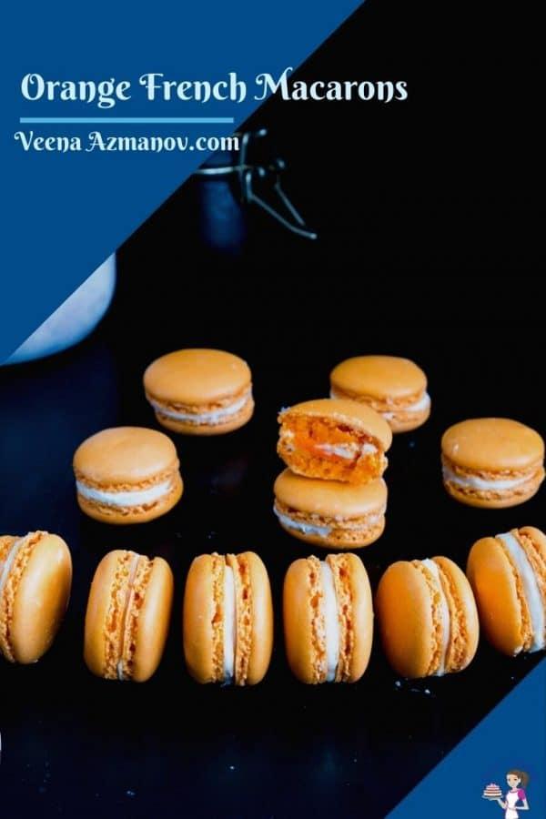 Image for orange macarons for Pinterest