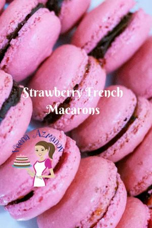Strawberry French Macarons with Strawberry Buttercream