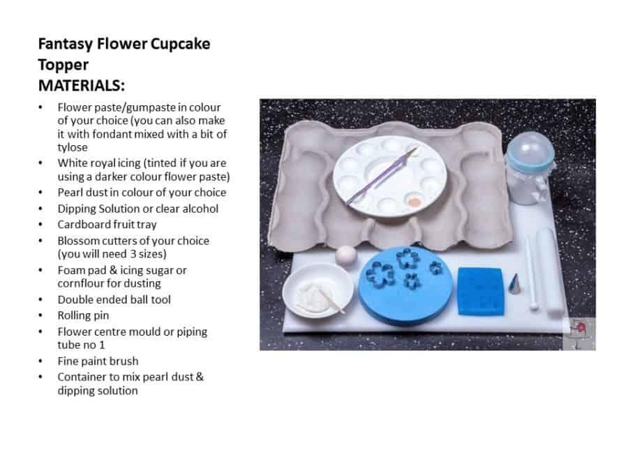 TUTORIAL_Fantasy Flower Cupcake Topper