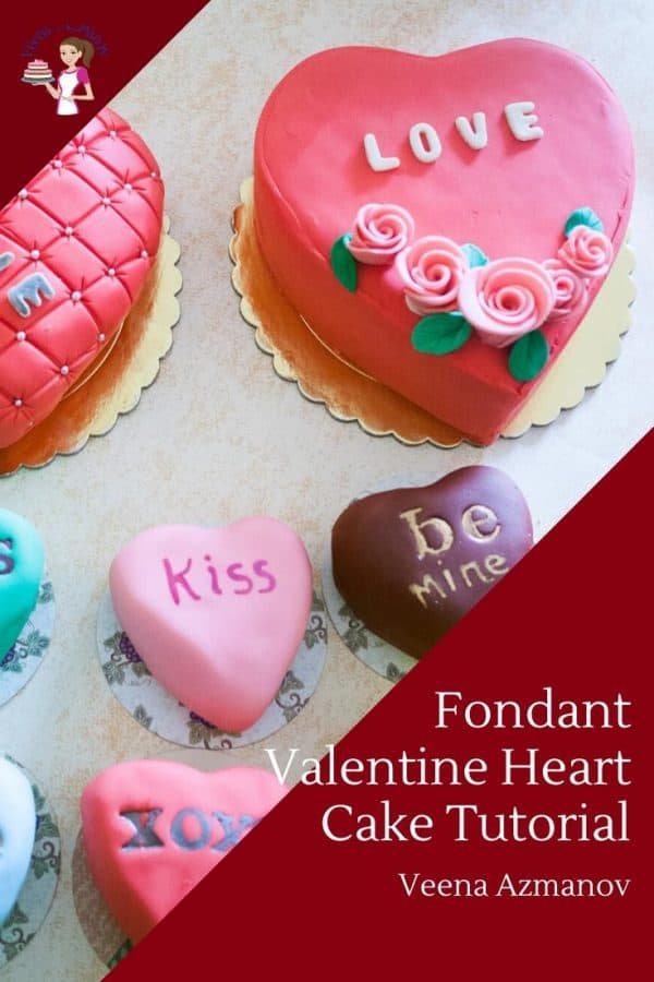 How to make a Valentine Cake in Fondant Heart Shape