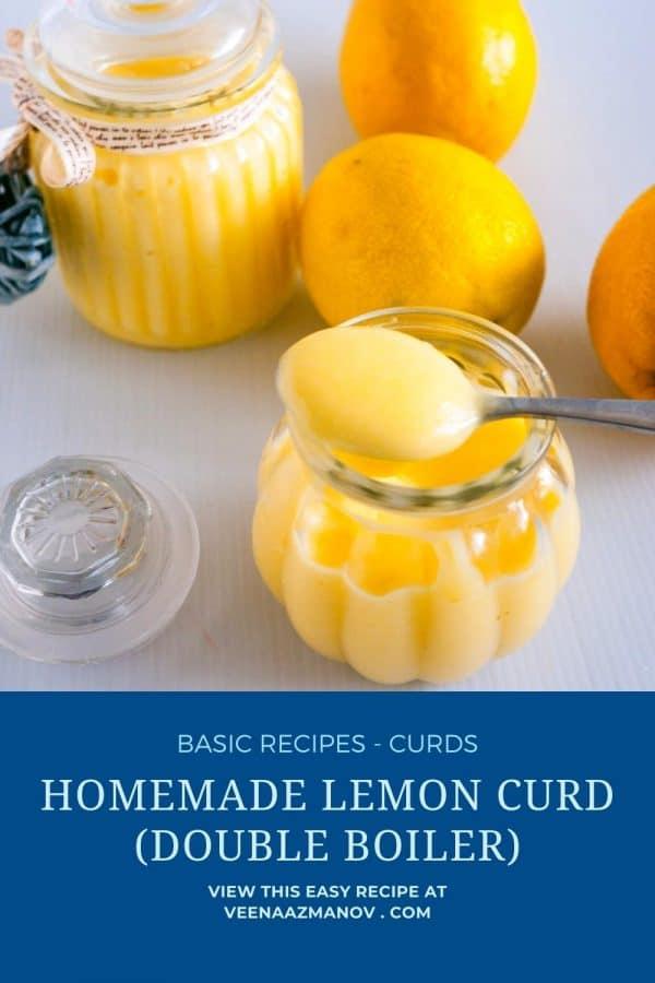 Pinterest image lemon curd how to Make it.